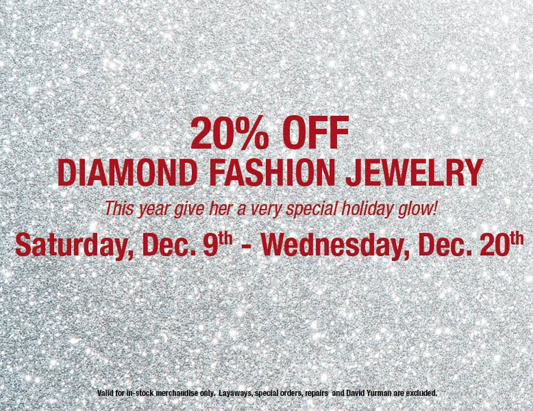20% Off Diamond Fashion Jewelry