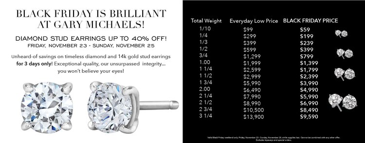 Black Friday Diamond Studs Sale