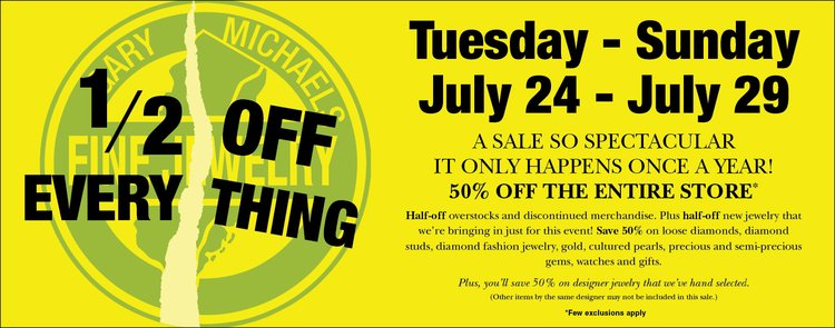Half Off Everything